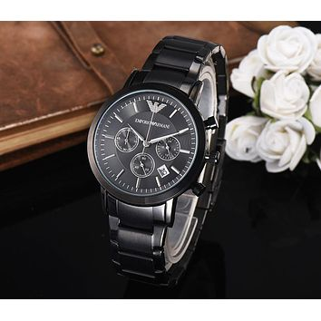 8DESS Armani Woman Men Fashion Quartz Movement Wristwatch Watch