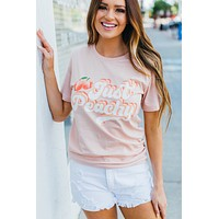 Just Peachy Graphic Top(S-XL)