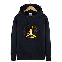 Hooded fleece classic long sleeve cloth of youth men and women lovers coat