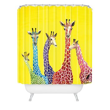 Clara Nilles Jellybean Giraffes Shower Curtain