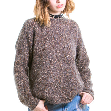 Vintage Speckled Mohair Sweater - One Size Fits Many