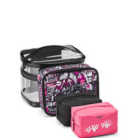 Graffiti Beauty Bag 4-Piece Set - Victoria's Secret