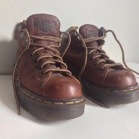 "Vintage 90's Doc Marten ""Airwair"" boots, Women's size 4.. Hiking or Work boots.. Grunge, Punk Uk, made in England.. Crust Punk"