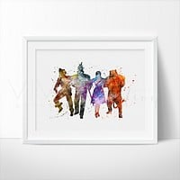 Wizard of Oz Watercolor Art Print