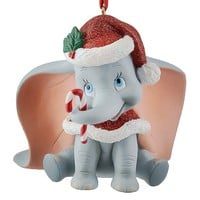 disney parks christmas glitter dumbo with candy cane ornament new with tag