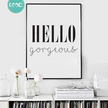 Gorgeous Quote Canvas Art Print Painting Poster, Wall Picture for Home Decoration, Wall Decor YE125
