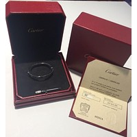 AUTHENTIC VERY RARE CARTIER PLATINUM LOVE BRACELET SIZE 17 BOX & PAPERS