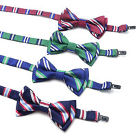 Boy Girl Kids Children Fashion Formal Classic  Butterfly Bowknot Bowtie Wedding Party Suit Tuxedo Dog Cat Pet Striped Bow Tie