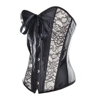 Black Corset with Lace Side Panels