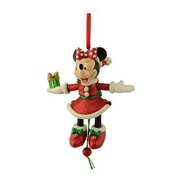 disney parks christmas santa minnie mouse marionette ornament new with tag