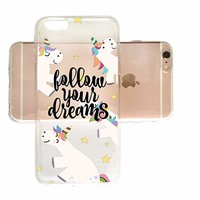 Follow Your Dreams Cute Unicorns Slim Iphone 7/8 Case, Clear Iphone Hard Cover Case For Apple Iphone 7/8 Emerishop (iphone 7/8)