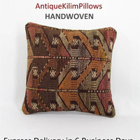 antique kilim pillow boho throw pillow covers decorative pillows rustic home decor house decoration pillows 000992