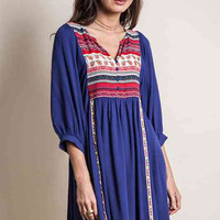 Brilliant in Boho Dress - Indigo