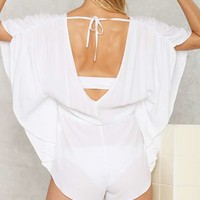Holy Plunge Batwing Romper