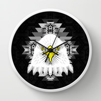 Geometric Eagle Wall Clock by chobopop