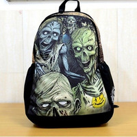 Mr.Leon--MoJo creative zombie personalized printing backpack schoolbag shoulder bag leisure package