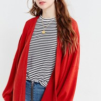 Out From Under Gathered Sleeve Thermal Cardigan | Urban Outfitters