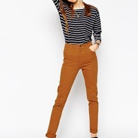 ASOS High Waisted Cotton Stretch Skinny Trousers