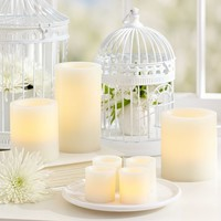 Flameless Wax Pillar Candles