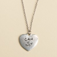 CAN U NOT ENGRAVED HEART NECKLACE