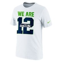 """The Nike """"We Are 12"""" (NFL Seahawks) Men's T-Shirt."""