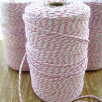 Pink & White Bakers Twine - Triple Thick! +240 Yards