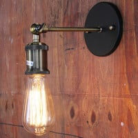 Vintage Wall Lamp Max 60W with 1 Light Painted Finish