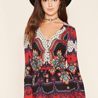 Abstract Print Romper | Forever 21 - 2000153487
