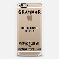 Grammar iPhone 6 case by Alice Gosling | Casetify