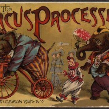 Circus Vintage Art Poster 11 inch x 17 inch