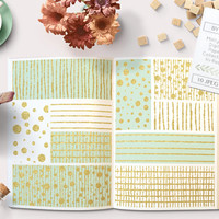 Mint and Gold Foil Digital Paper Pack. Digital Backgrounds Graphics for Graphic Design, Confetti, Stripes and more patterns Instant Download