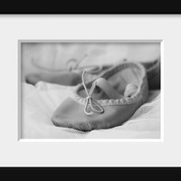 Dance Photography, Ballet Photography, Nursery Room Decor Black and White Ballerina Slippers,