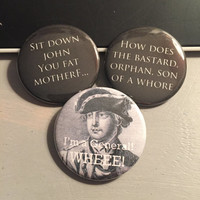 Hamilton Inspired Quotes - Button or Magnet