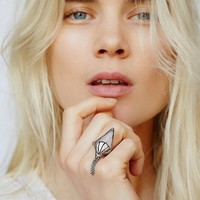 Free People Arrow Rose Fringe Ring