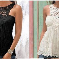 Sexy, Charming Summer Lace Tank Top