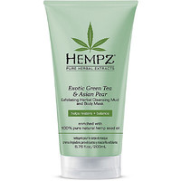 Exotic Green Tea & Asian Pear Exfoliating Herbal Cleansing Mud and Body Mask