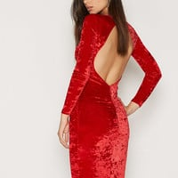 Open Back Ruched Dress, NLY One