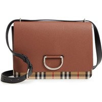Burberry Medium D-Ring Vintage Check & Leather Crossbody Bag | Nordstrom