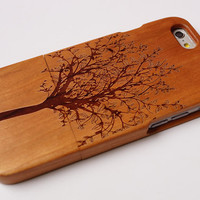 Engraved wooden  iPhone 6 case, waves of the sea iphone 6plus wood case, iphone 5 case, iphone 5c case,iphone 4 case