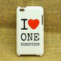 One Direction -- ipod touch case, iPhone 4 case , iphone 5 case , samsung galaxy S3 / S2 case in black or white