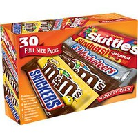 VARIETY CANDY BARS 30- 1.5 0Z