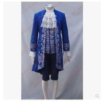 Free shipping Beauty and the Beast Prince Movie  Cosplay Costume Full Set  role-playing praty show  For Adult Men