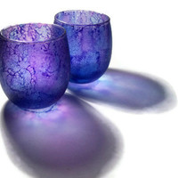 Violet Purple Candle Votive Tealight Holders Matched by dreamers3
