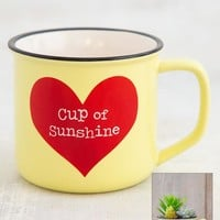 Cup of Sunshine Faux Succulent and Mug