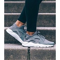 NIKE AIR HUARACHE Trending Women Men Casual Running Sports Shoes Sneakers Grey I/A