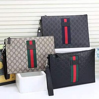 GUCCI new retro printed letters men and women shopping bag envelope bag