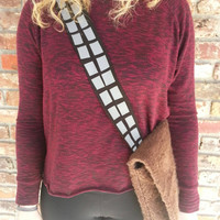 Star wars, Chewbacca, messenger bag, wookie, han solo, Millenium Falcon, the force awakens, light side, ewok, tote, clothing, accessories