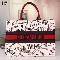 Dior letter printing fashion casual ladies large-capacity handbag Bag