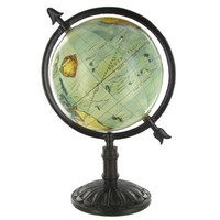 """14"""" Natural Color Globe on Dark Wood Stand 