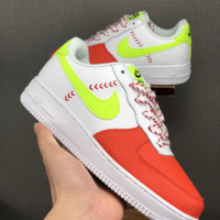 HCXX 19June 1199 Nike AIR FORCE 1 LV8 Low Leather Skate Shoes white red green